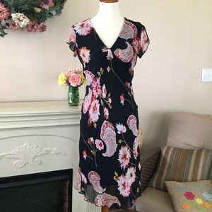 April Why Not Lined Summer Floral Dress Sz M